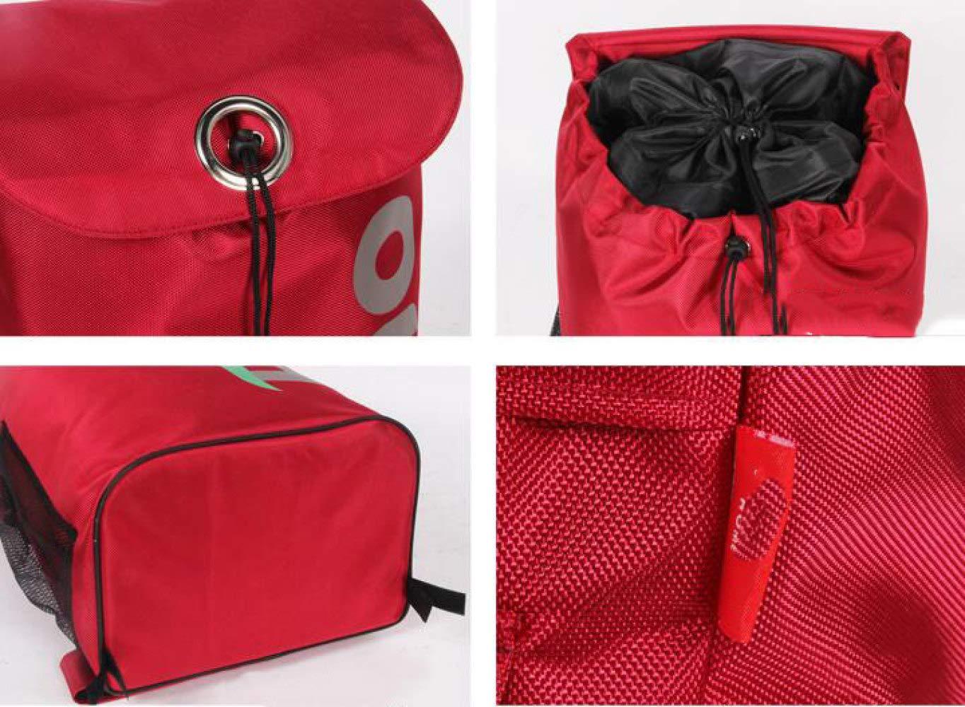 Trolley Aluminum Alloy Portable Shopping Foldable Luggage Cart,Blue