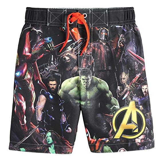 5131800301c9e Avengers Superhero Boys Swim Trunks Swimwear (Toddler/Little Kid/Big Kid) (