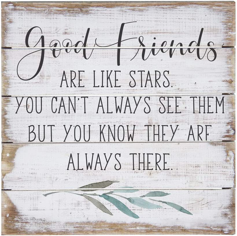 """Simply Said, INC Perfect Pallet Petites 8"""" Wood Sign - Good Friends are Like Stars"""