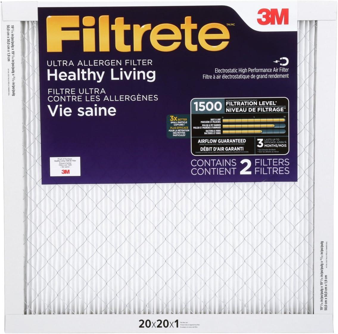 3M Filtrete 20x20x1 Ultra Allergen Reduction Air Filter