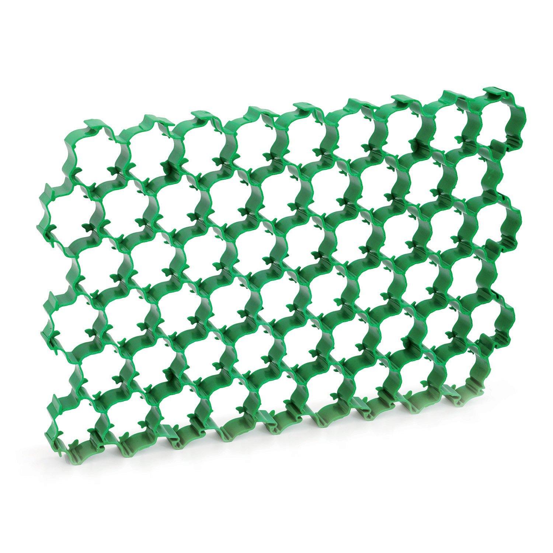 Prosperplast Plant IKP2C - Malla de refuerzo para zonas de césped y pavimentadas, color negro 1,1 m² de malla de refuerzo, 2 colores, verde IKP2Z-G851