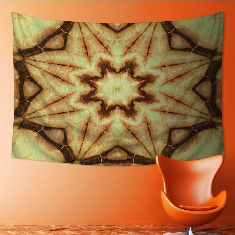 Nalahome Wall Hanging Tapestries Wall Art Tapestries Wall Tapestries Tie Dye Thai Motif with Dirty Smear and Rough Stains Mustard Brown Tapestry Dorm Decor Tapestry(36W x 24L INCH) by Nalahome