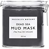 Dead Sea Mud Mask - Infused With Tea Tree Oil - Facial Mask for Acne and Oily Skin, Pore Minimizer, Blackhead Remover, For Fa