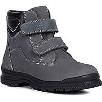 GEOX Boys' NAVADO 1 Nubuck Boot Riptape Straps, Dgrey/BLK, EU/10 Construction, dyegrey/Black, 27 M EU Little Kid (10 US)