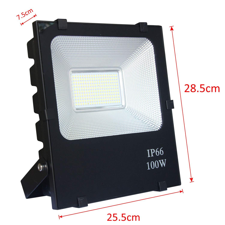 AUFUN Focos de exterior 100W LED reflector faro RGB Proyector ...