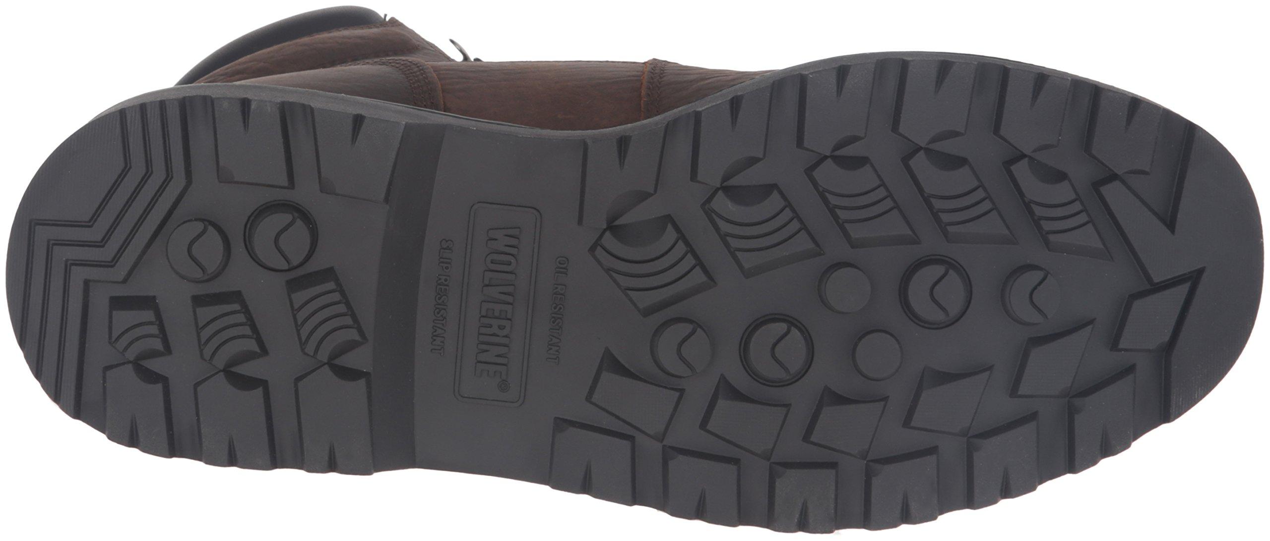 Wolverine Men's Floorhand 6 Inch Waterproof Steel Toe Work Shoe, Dark Brown, 9.5 M US by Wolverine (Image #3)