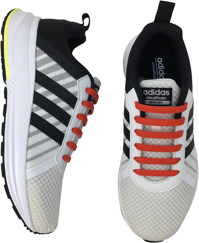 Newkeen sin corbata Cordones de zapatos para ni/ños y adultos cordones de zapatos de atletismo atl/ética de silicona el/ástico plano de los zapatos del tablero Sneaker boots