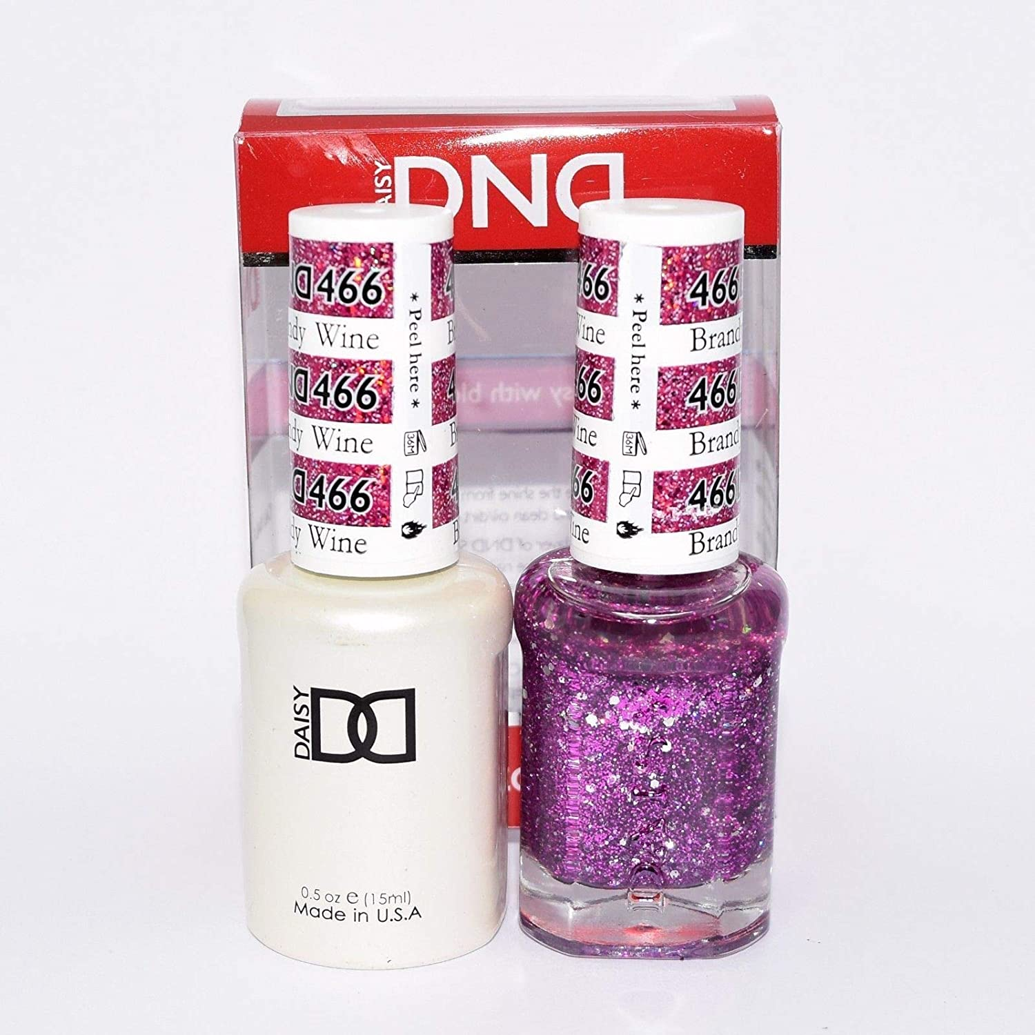 DND *Duo Gel* (Gel & Matching Polish) Glitter Set 466 - Brandy Wine by dnd
