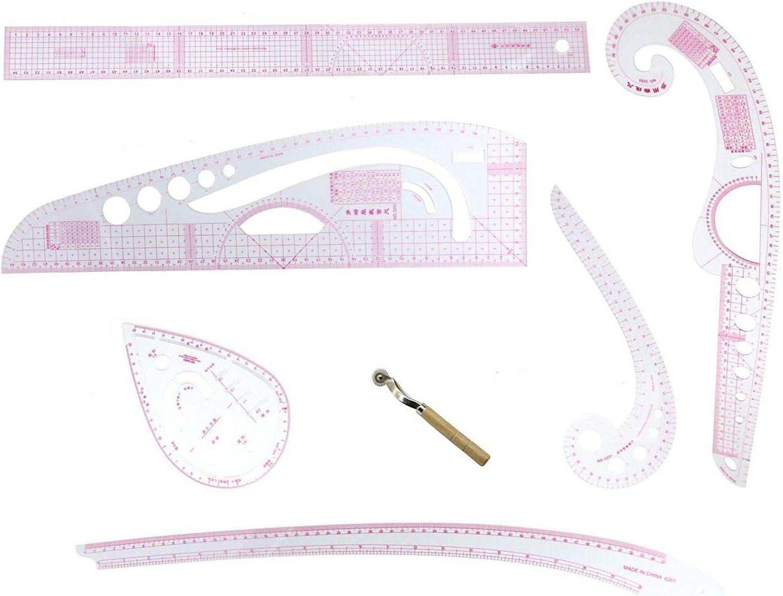 set de reglas de corte para costura sastrería pack 6