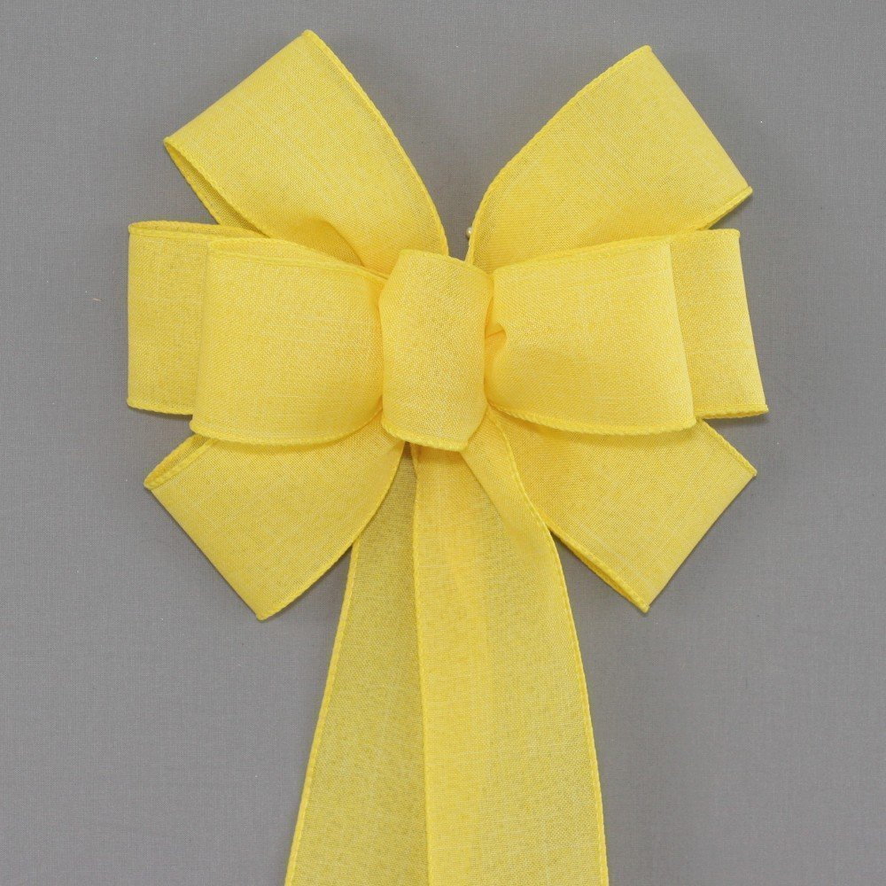 Yellow Rustic Wreath Bow - Color Options - available in 2 sizes