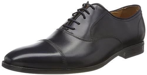 Geox U New Life E, Zapatos de Cordones Oxford para Hombre, Azul (Navy), 40 EU