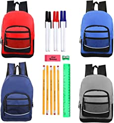 26266de3271a Moda West Bulk Case of 24 Backpacks and 24 Kits - 17