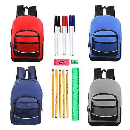 53024e9f6da Amazon.com: Moda West Bulk Case of 24 Backpacks and 24 Kits - 17
