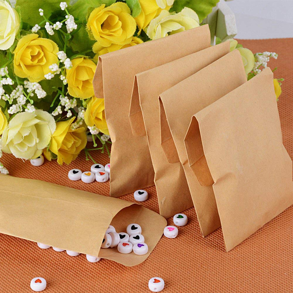 per Sacchetti Regalo Caramelle Semi Sacchetto Carta Marrone Vintage Matrimonio 8 /× 12 cm Deer Platz 100 Pezzi Mini Sacchetti Carta Kraft