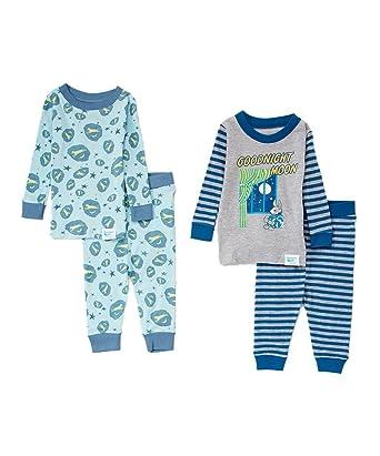 b01ac5277d60 Amazon.com  Goodnight Moon Baby Infant Blue Pajama  Clothing