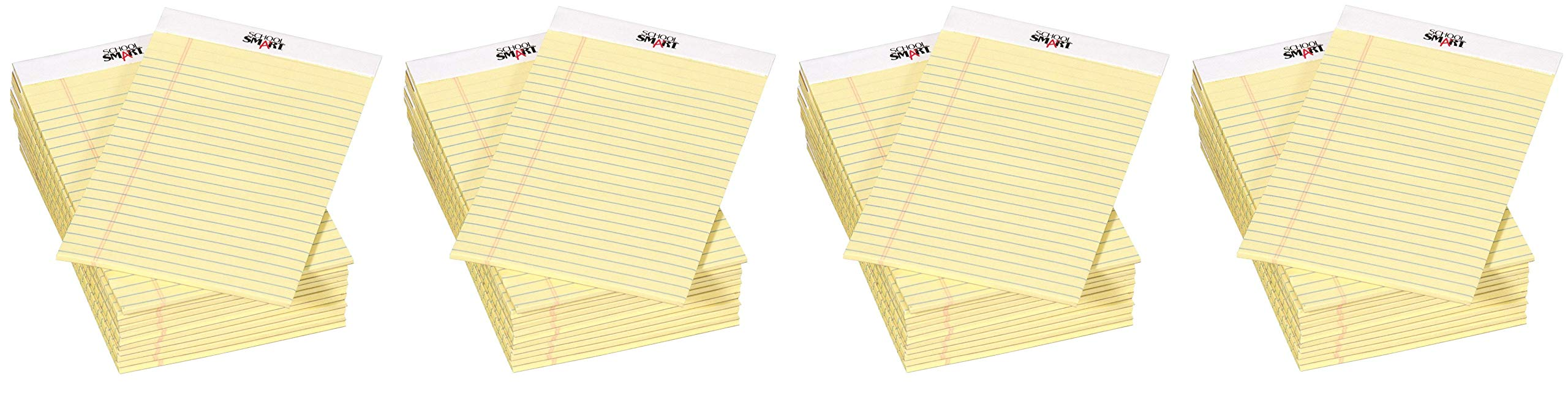 School Smart Junior Legal Pad, 5 x 8 Inches, 50 Sheets Each, Canary, Pack of 12 (Fоur Paсk) by School Smart