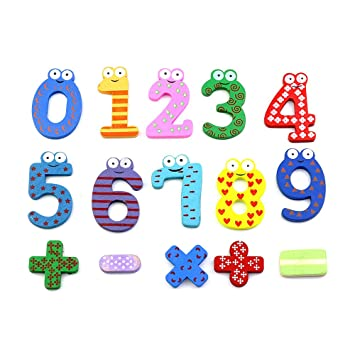 Amazon Chop Mall Magnetic Numbers Math Symbols Wooden Cartoon