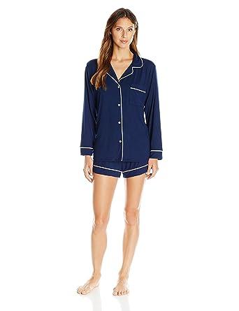 a39e36ddf1f Eberjey Women s Gisele Two-Piece Long Sleeve   Short Pajama ...