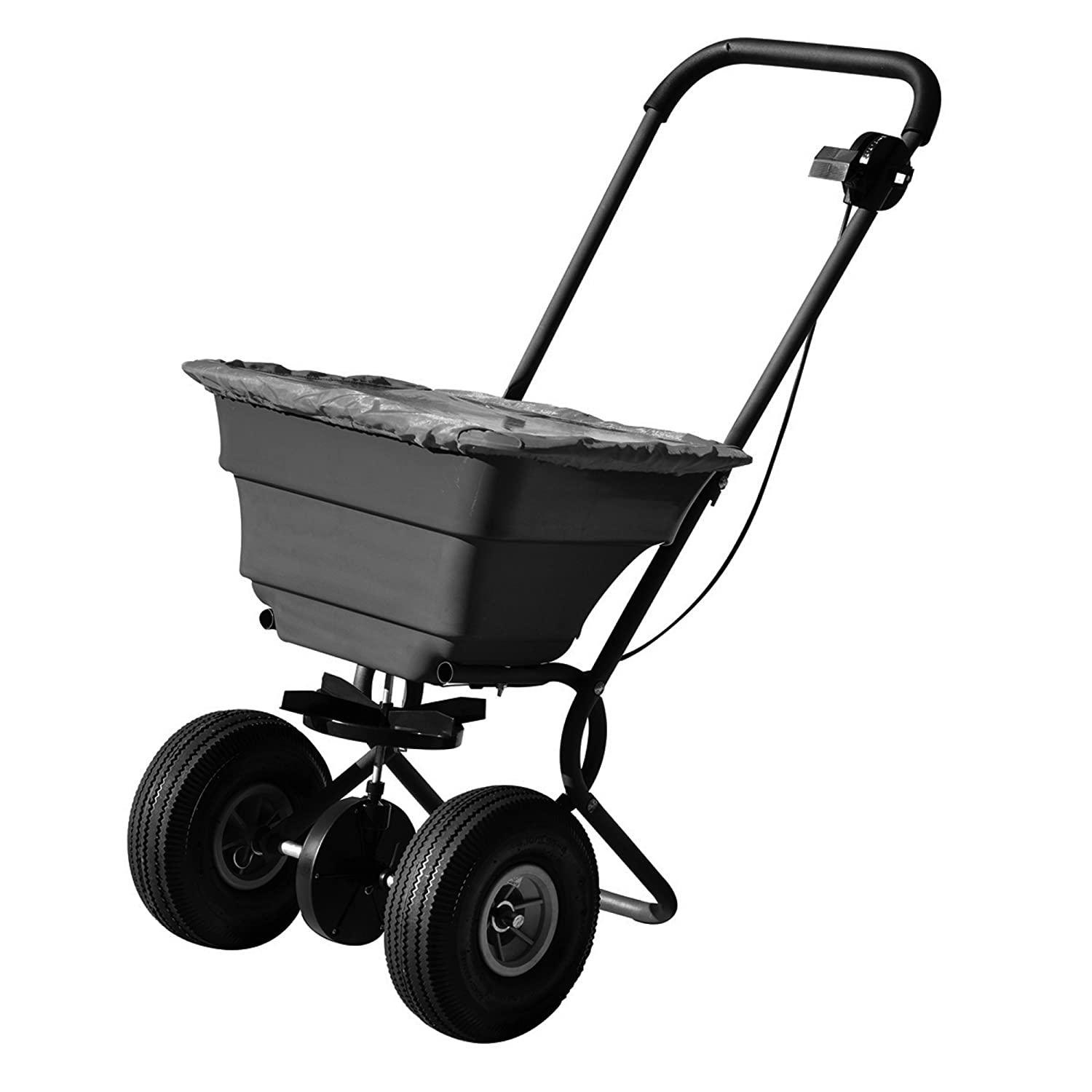 Precision Products 75-Pound Capacity Broadcast Spreader with Pneumatic Tires and Rain Cover SB4000PRCGY Precision Products Inc