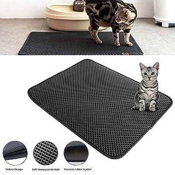 Alfombrilla para gatos y gatos, impermeable, plegable, doble capa, alfombrilla para trampa