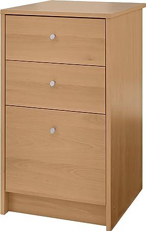 Mueble archivador de 3 cajones), diseño con efecto de madera de roble Casa o en la oficina armario muebles Malibu: Amazon.es: Hogar