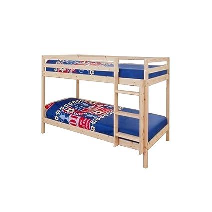 2 FT6 traje para niños litera cama en madera de pino con 2 colchones estándar Zara