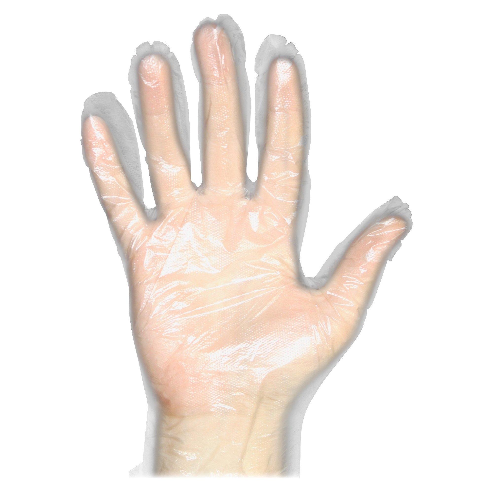 ProGuard Disposable Clear General Purpose Gloves - Medium Size - Disposable, Comfortable, Durable, Ambidextrous, Lightweight - Polyethylene - 1000 / Carton - Clear