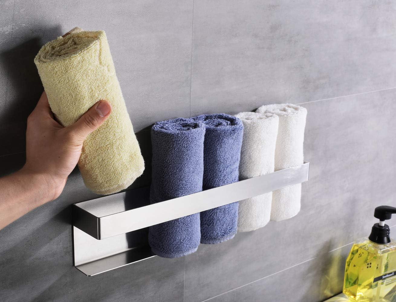 F91101D HomeHeng Schwenkbarer Handtuchhalter 2 Stangen ,Wandmontage-Handtuchstange f/ür K/üche Handtuchhalter aus geb/ürstetem Edelstahl Toilette und Bad
