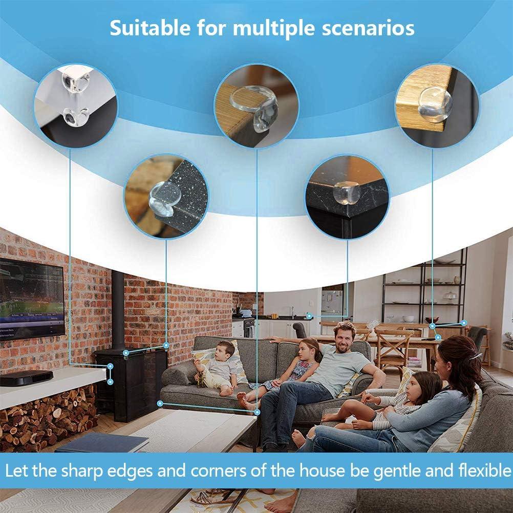 OFNMY 12pcs PVC Protector Esquinas Muebles para Mesa Transparente Muebles Bordes y Esquinas