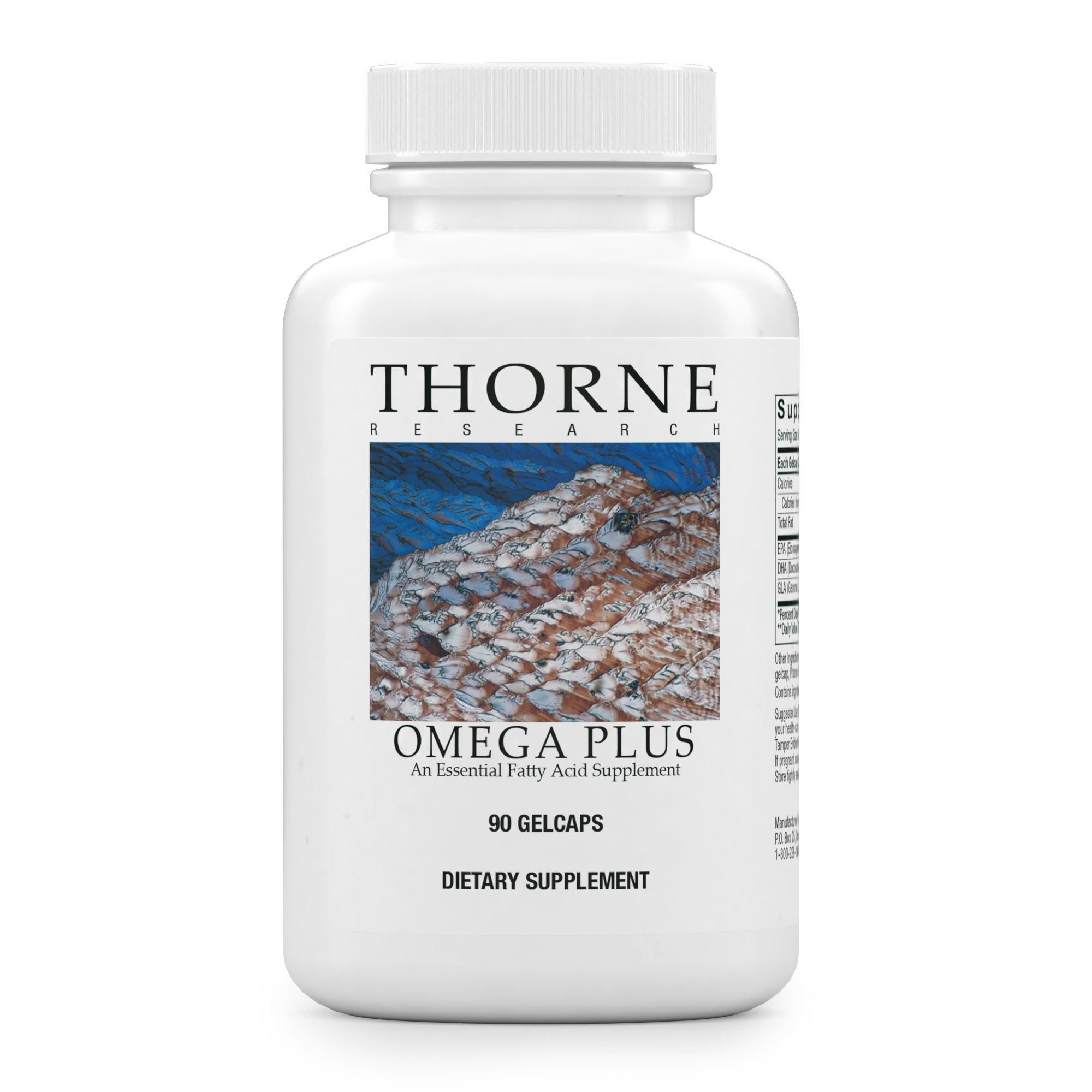 Thorne Research - Omega Plus - An Essential Fatty Acid Supplement with Omega-3 and Omega-6 - EPA, DHA, and GLA - 90 Gelcaps