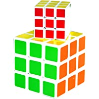 Magic Puzzle Speed Cube 3X3X3 1 Mini 1 Big 2 Set Perplexing Cube Puzzle by S H Homes MART & TERDARS