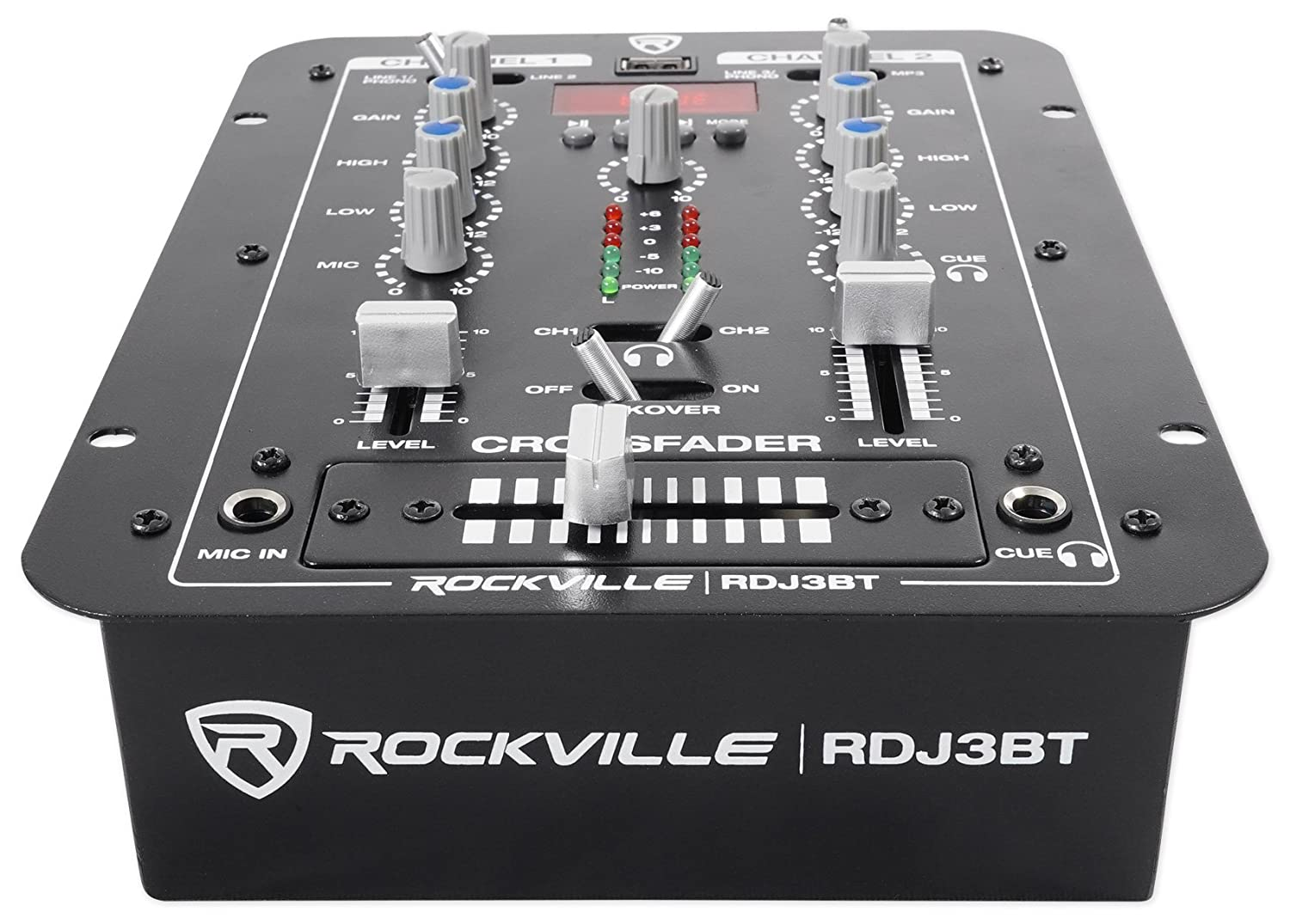Rockville Rdj3bt 2 Channel Dj Mixer With Usb Bluetooth Dictionary Of Electronic And Engineering Terms Audio Circuit Talkover 4 Line Inputs Musical Instruments