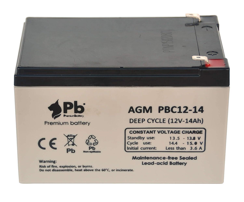Batería AGM ciclo profundo 12V 14Ah: Amazon.es: Industria, empresas y ciencia