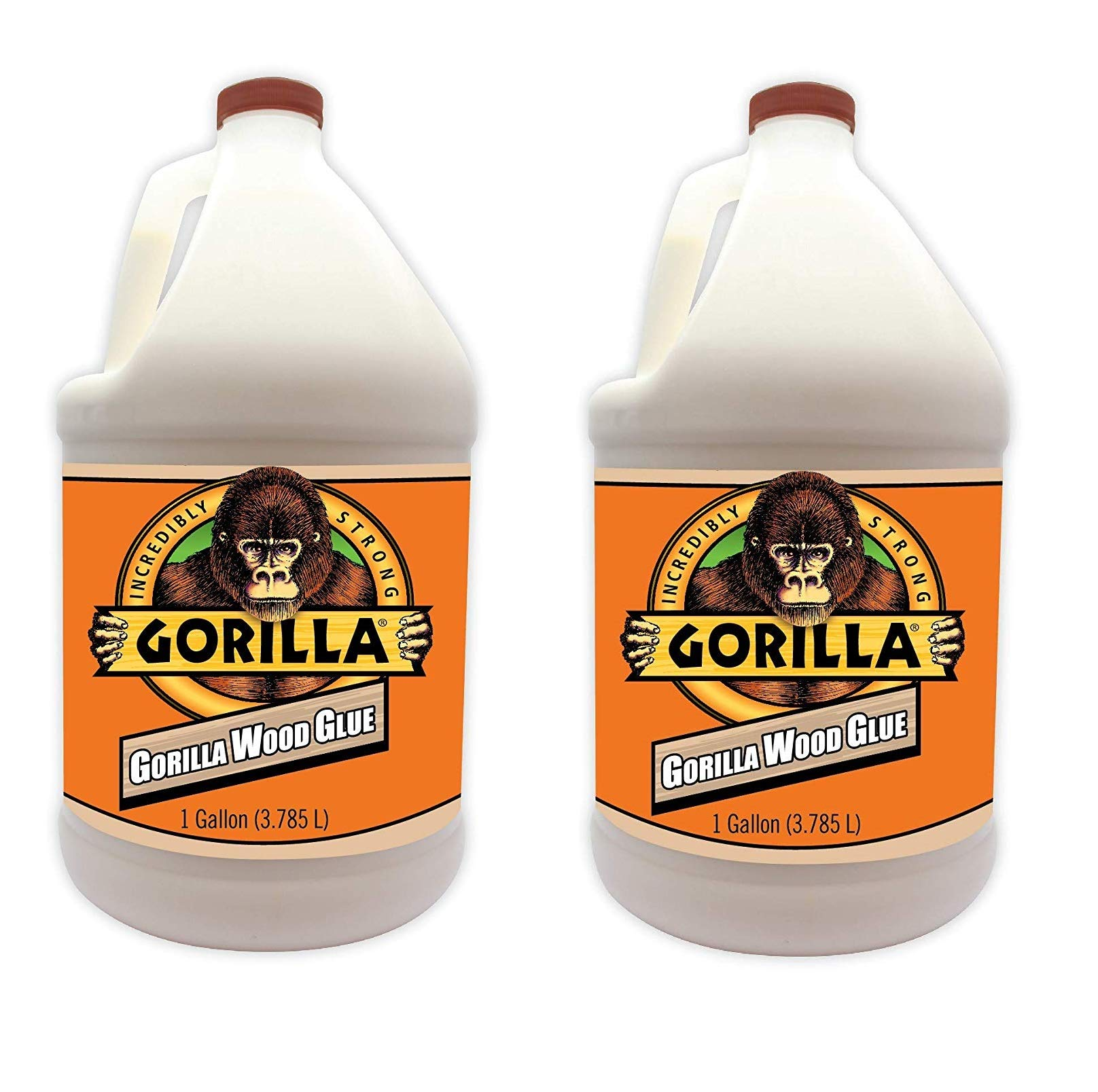 Gorilla 6231501 Gallon Wood Glue Natural Color (2-Pack)