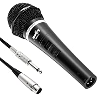 Moukey MWm-1 Dynamic Vocal Microphone Metal Handheld For Karaoke with 16.40 ft XLR Cable