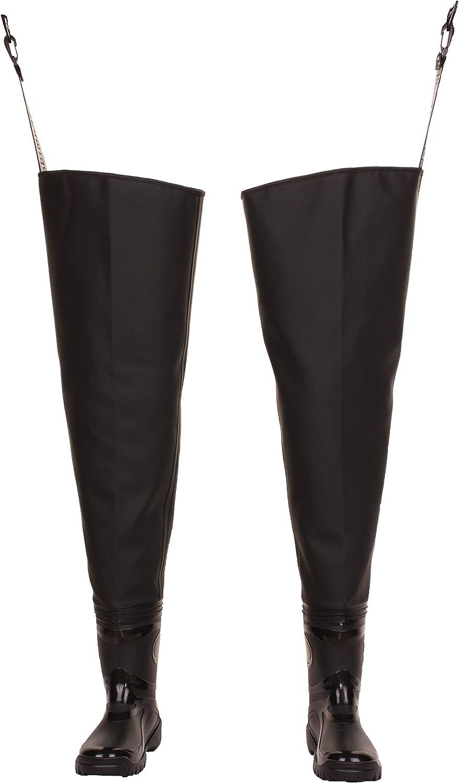 Bottes de p/êche 3Kamido/® Waders de p/êche Classic Chasse Waders Pantalon de p/êche Standard Poitrine /échassiers Cuissardes de p/êche Noir et Vert s/érie 680