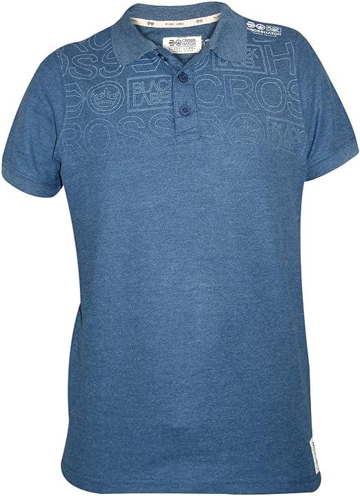 Mens Cross Hatch Short Sleeve T Camiseta Summer 100% Cotton ...