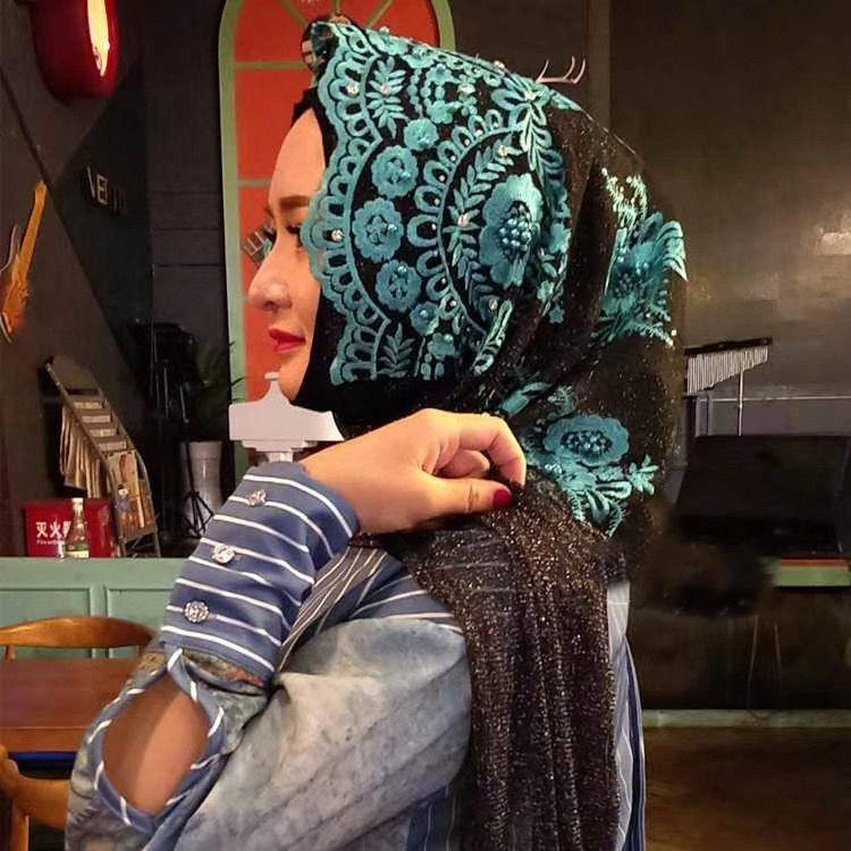 Women Scarf Silk Scarf Fashion Wedding Shawl Plain Hijab Soft Fabric Multi Color
