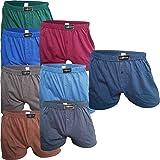 SGS 6-10 weite Herren Boxershorts im Set ✓ Eingriff ✓ 100% Baumwolle | American Style Short für Männer | Unterwäsche im Spar-Pack in vers. Farben | Unterhosen für Herren