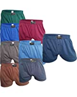 6-10 weite Herren Boxershorts im Set ✓ Eingriff ✓ Breiter Komfortbund ✓ 100% Baumwolle | American Style Short für Männer | Unterwäsche im Spar-Pack in vers. Farben | Unterhosen für Herren von SGS