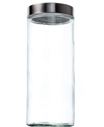 Amazoncom Food Saver Tall Clear Glass Storage Container Jar with