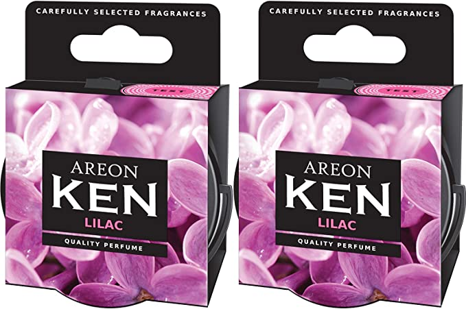 Areon Ken Lufterfrischer Auto Duft Lila Blume Autoduft Dose Wohnung Duftdose Erfrischer 3d Set Lilac Pack X 2 Auto