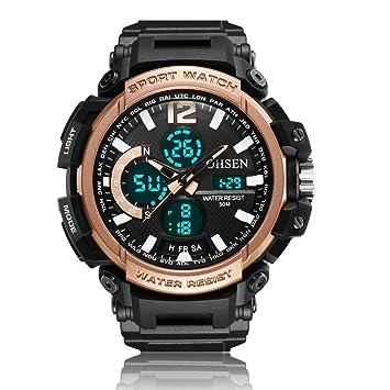 Relojes de Hombre Casual Deportes Correa de Silicona Reloj ...
