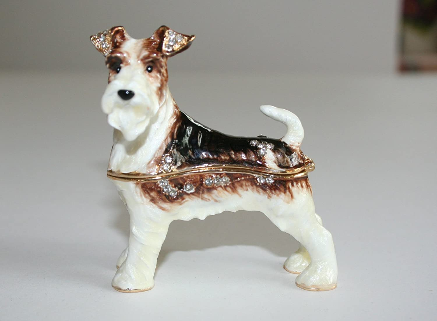 Amazon.com: Wire Fox Terrier Trinket Box: Kitchen & Dining