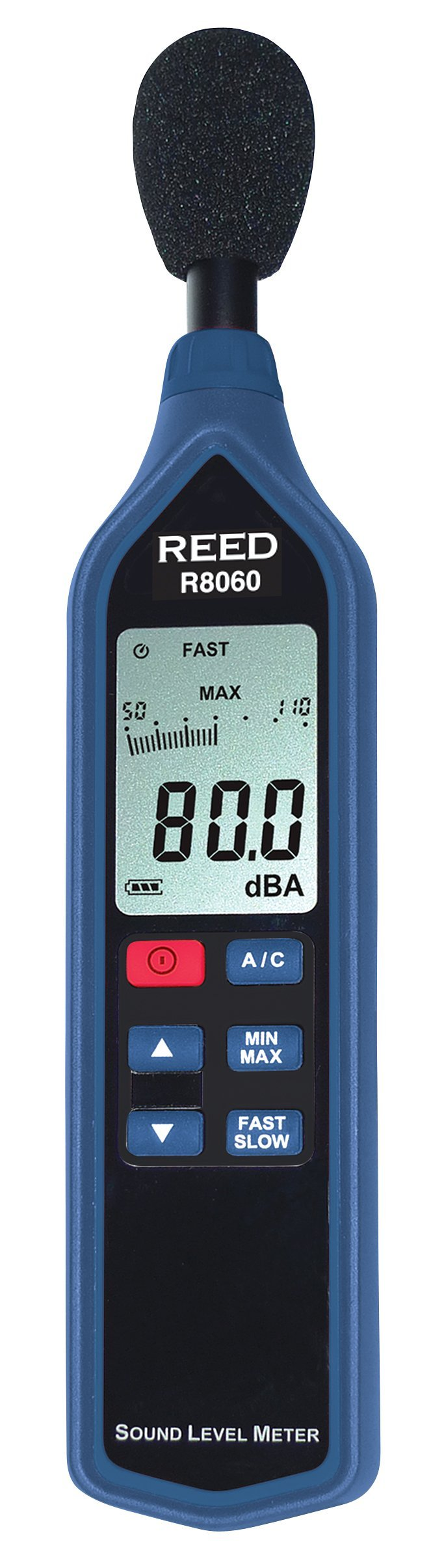 REED Instruments R8060 Sound Level Meter with Bargraph, Type 2, 30 to 130 dB by REED Instruments
