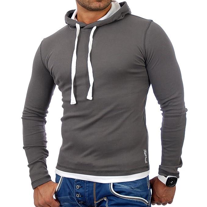 Reslad Herren Pullover Kapuzenpullover Sweatshirt Sweater Pulli Hoodie RS 1003