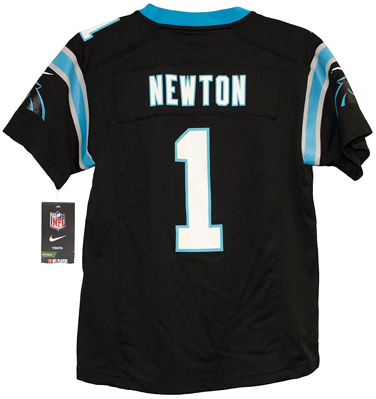 Nike NFL Carolina Panthers Cam Newton Youth Game Football Jersey