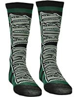 Harry Potter Avada Kedavra Striped Killing Curse Long Socks Size 6 -12 Green Blk