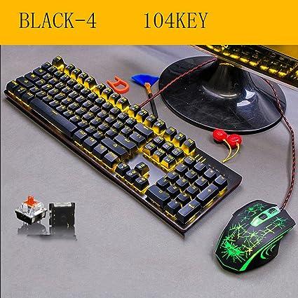 L&Y Teclados para gamers Mecánica teclado juegos teclado oficina teclado Internet barra teclado juegos teclado portátil ...