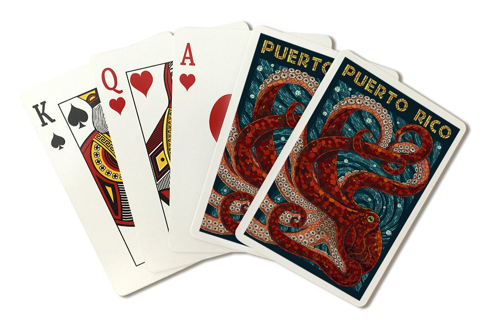 Puerto Rico - Pulpo mosaico (Playing Card Deck - 52 tarjeta Poker ...